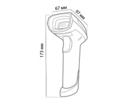 Беспроводной 2D сканер МойPOS MSC-6617 для Марикровки, Честный знак, ЕГАИС