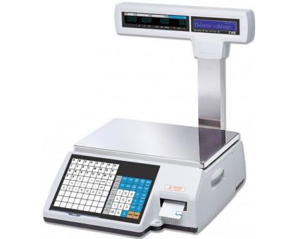 Торговые весы CAS CL5000-P со стойкой, печатью этикеток и памятью