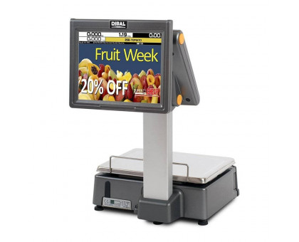 DIBAL D-955 - весы самообслуживания с печатью этикеток и сенсорным экраном