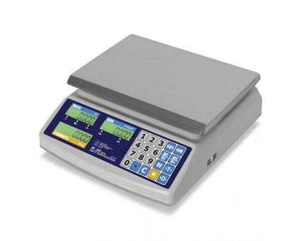 """Торговые настольные весы M-ER 329 AC на 15 кг или 32 кг, защита IP68 """"Fisher"""" LED"""