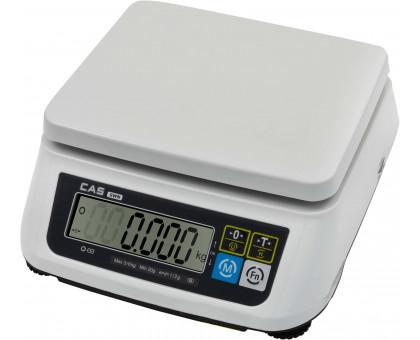Настольные порционные весы CAS SWN двухдиапазонные