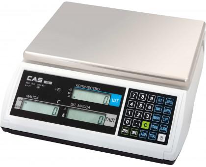 Счетные весы CAS EC c памятью на 200 товаров и Min весом 1 шт > 0,1d